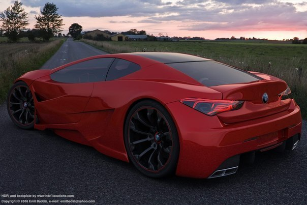 Супер автомобиль БМВ BMW M10 GT4 CONCEPT.
