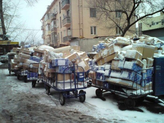 Как сортирует посылки Почта России (3 фото)