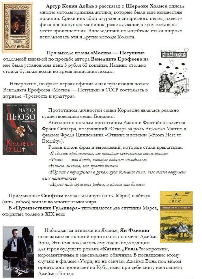 Познавательные факты о книгах и известных авторах (10 фото)