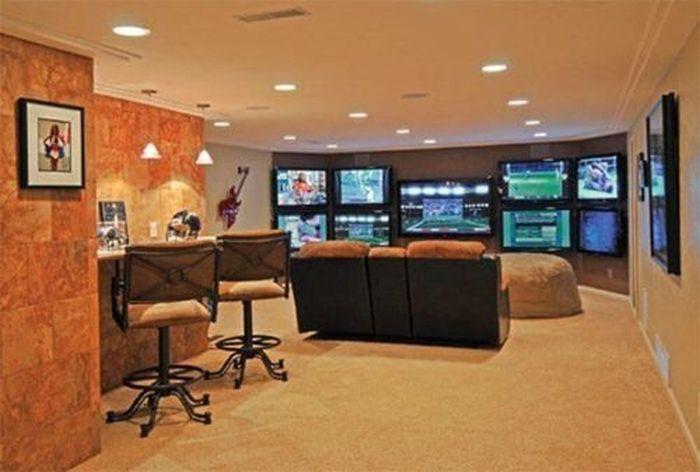 Спортивные комнаты, о которых мечтает каждый мужчина (52 фото)
