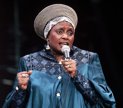 Мириам Макеба (Miriam Makeba) - южноафриканская певица, борец за гражданские права и обладатель премии «Грэмми». Также была известна под сценическим псевдонимом «Мама Африка».
