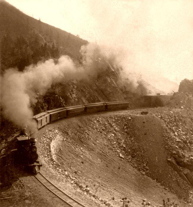 Развитие железной дороги Америки конца 19го века (59 фото)