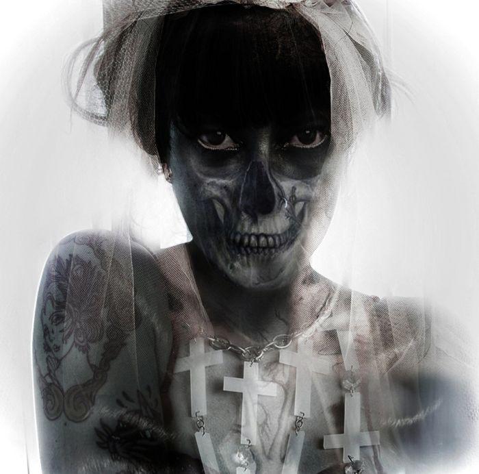 Хоррор-арт и пугающие фотографии (24 фото)