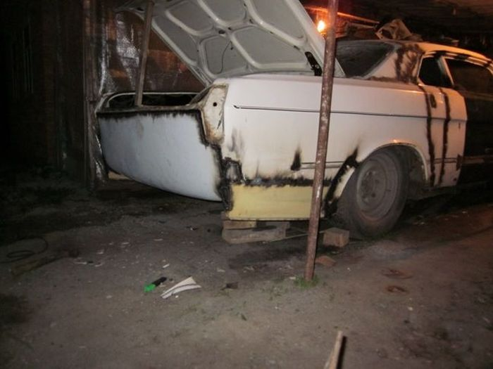 Перевоплощение старой Волги в крутое купе (140 фото)
