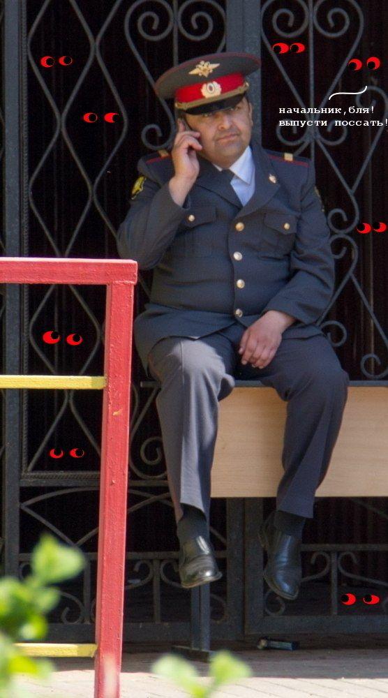Фотожаба: Грустный полицейский (41 фото)
