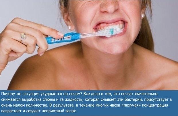 Зачем нужно чистить зубы по утрам (5 фото)