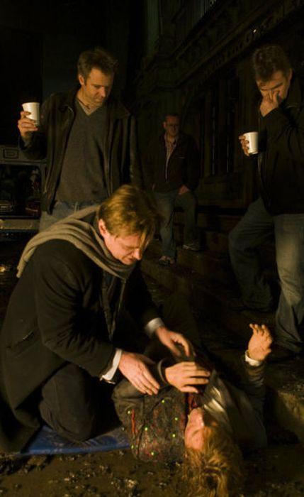 """За кулисами """"Тёмный Рыцарь: Трилогия"""" (79 фото)"""