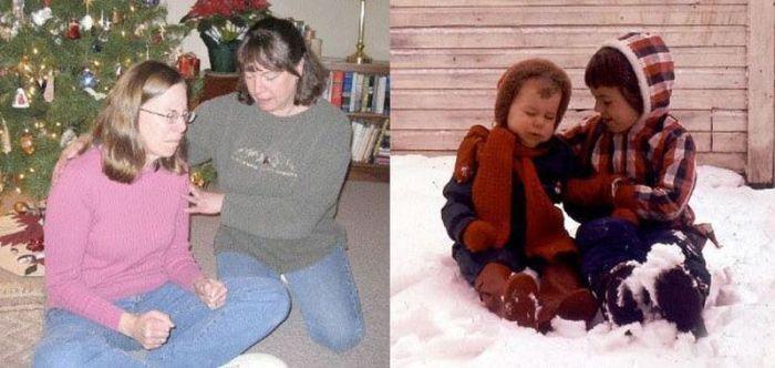 В детстве и сейчас.(30 фото)