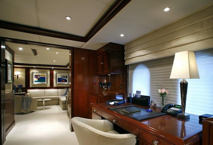 Интерьеры богатых яхт