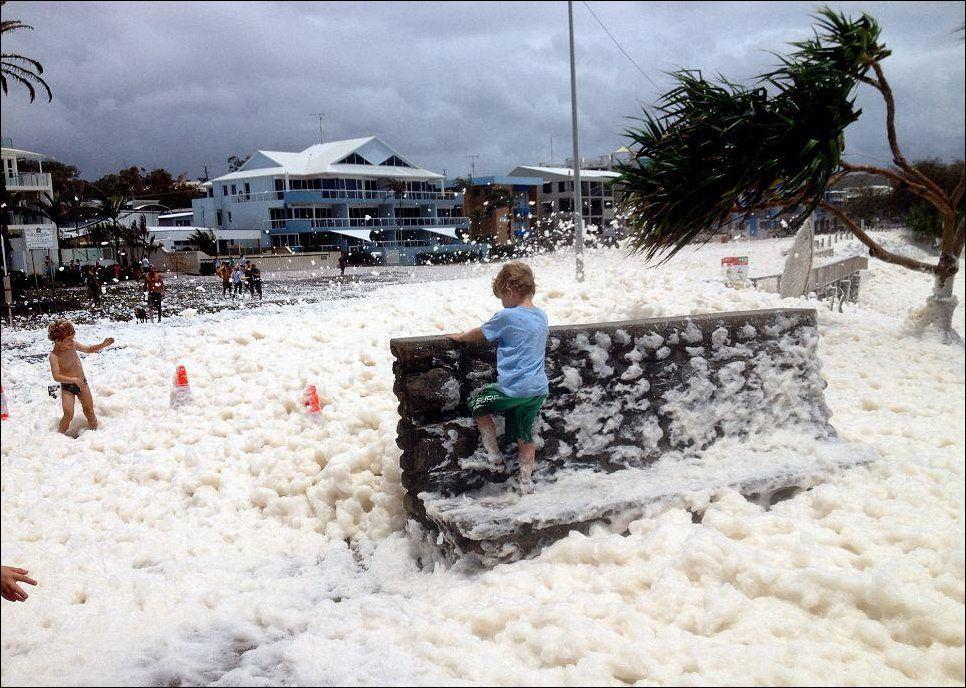 Океанская пена в Австралии