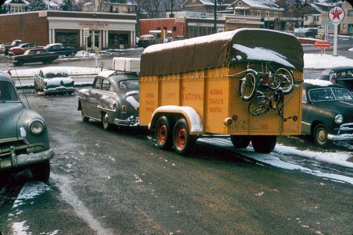 Американские средства передвижения в 40-60-е года (89 фото)