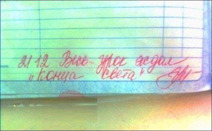 Смешные замечания в школьных дневниках