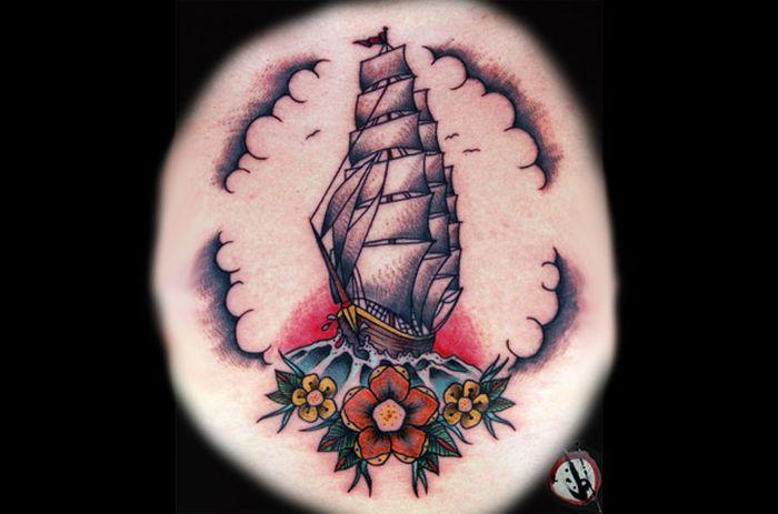 Яркие татуировки на разных частях тела (55 фото)