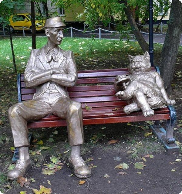 Памятник Коровьеву и Коту Бегемоту