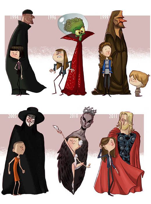 Эволюция актеров и их персонажей (11 картинок)