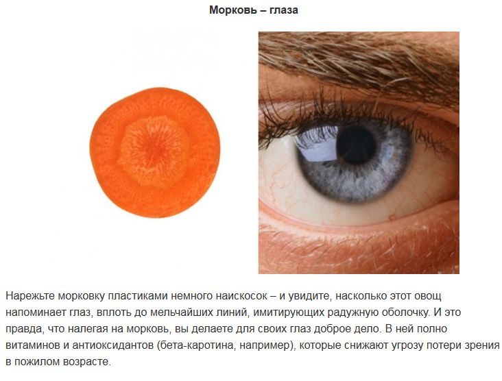ТОП-10 продуктов, которые полезны для похожих по виду органов человека (9 фото)