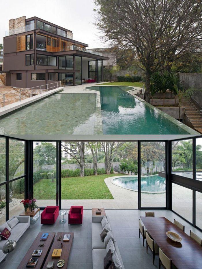 Креативный дизайн частных домов (30 фото)