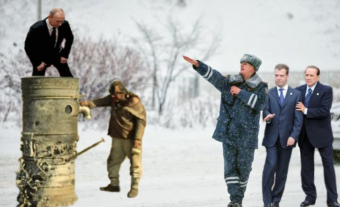Фотожаба: жизнерадостный полицейский (49 фото)
