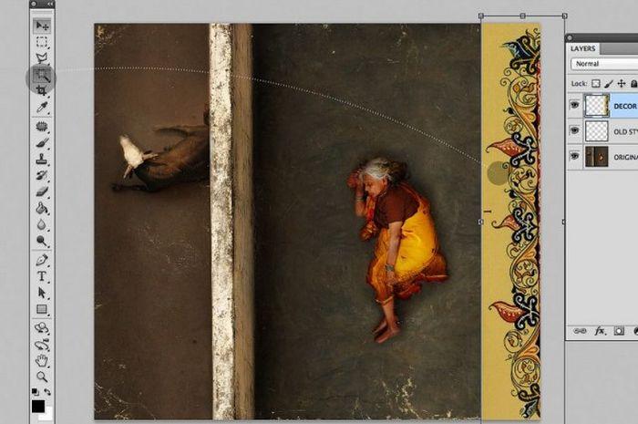 Как создаются ретро-шедевры в фотошопе (47 фото)
