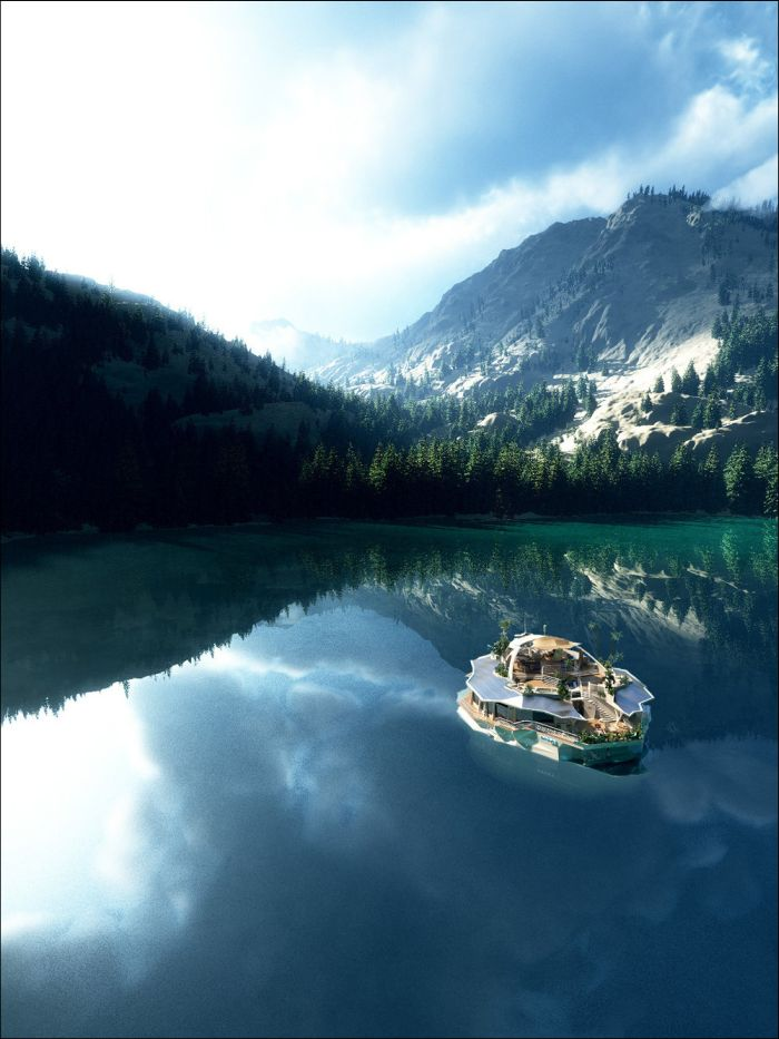 Уникальный дом-остров стоимостью 6,5 млн долларов (10 фото)