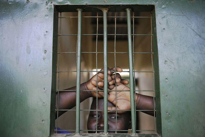 Тюрьма в Южном Судане (30 фото)