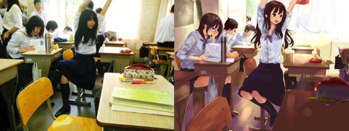 Перевоплощение в персонажей из аниме (25 фото)